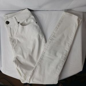 Lou & Grey White High Waist Skinny Ankle Size 25.